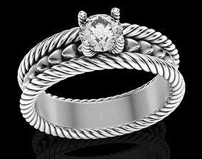 Stylish ring with a rope 425 3D print model