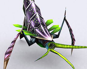 animated low-poly 3DRT - Insectoid Monster Boss