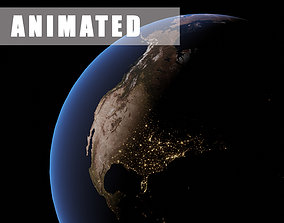 Photorealistic Earth 6K textures Animated 3D model