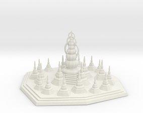 Pagoda 3D print model sculpture