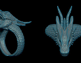 3D printable model Dragon ring creature