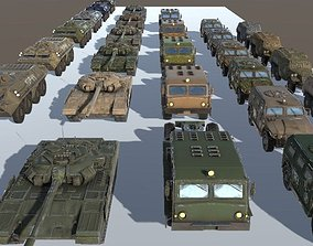 Russian Military Vehicles 29 Prefabs I 3D model 5