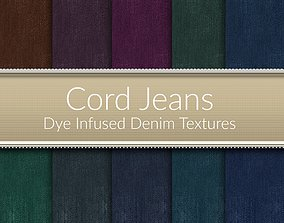 Cord Jeans Seamless Textures Set 3D