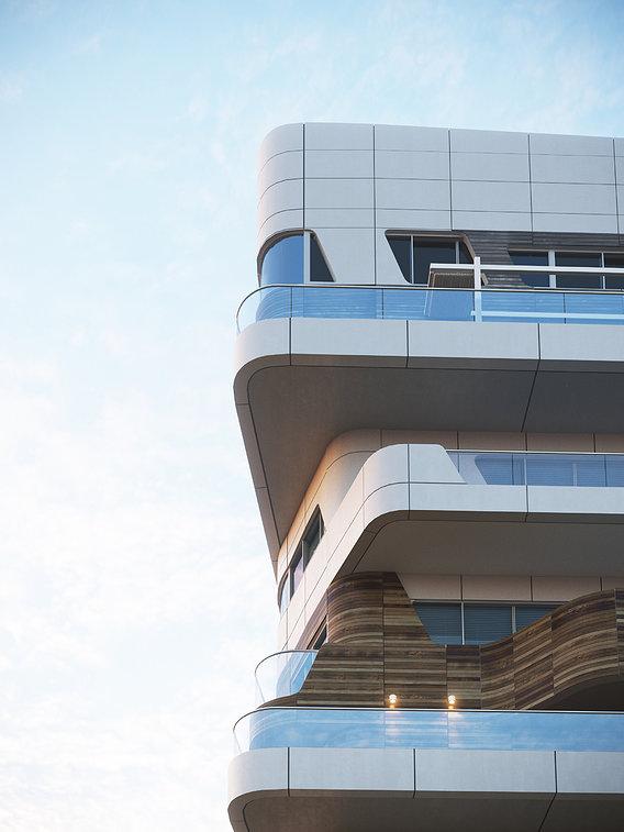 Element of the building Citylife Apartments / Zaha Hadid Architects