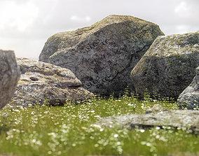 Photorealistic Rocks and Stones 3D model