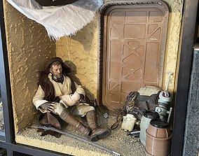 STAR WARS TATOOINE MODULAR DIORAMA 3D print model