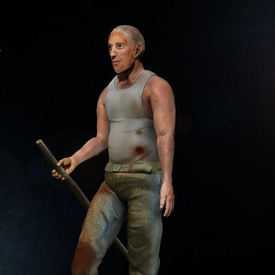 Character modeling and texturing