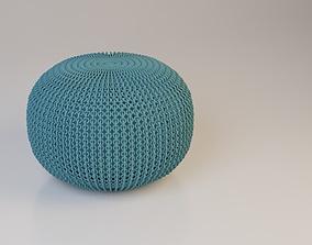 Textiles Pouf-Sofa 3D