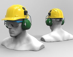 Safety helmet 3D model equipment