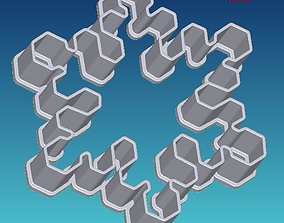 Snowflake cookie cutter 3 3D printable model
