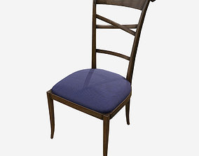 Low Poly PBR Dining Chair 3D asset game-ready