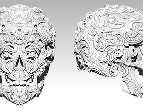 3D printable model Carved pattern human man SKULL high