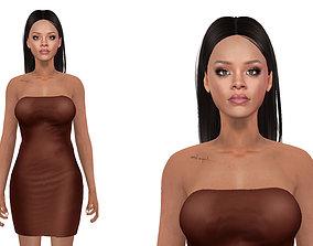 rigged Rihanna Model Rigged