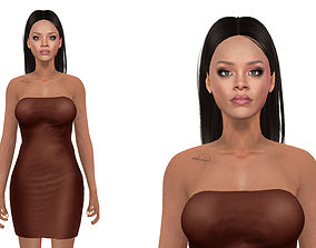 rigged Rihanna Model Rigged