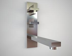 3D model Gessi Rettangolo 21785 wall mixer
