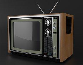 Old Retro TV 3D asset