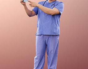 3D 11027 Sahir - Medical Doctor standing paramedic x-ray