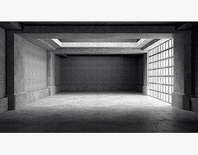 Empty room interior 03 3D