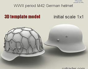 3D model SPM-002-M42-02Template WWII period M42 German
