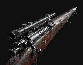 Springfield M1903A4 Sniper Rifle 3D asset