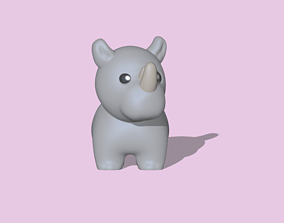 3D print model A cute Rhino for decoration and
