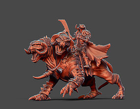 Chaos Warlord with beast 66 mm - 35 mm 3D printable model