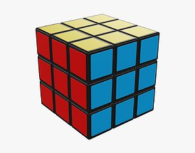 Puzzle cube game 3D model PBR