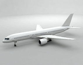 3D asset Boeing 757-200 Airliner - Generic White