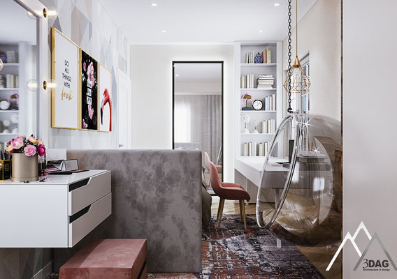 luxury bedroom for teenager by 3DAG