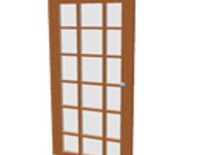 Patio glass door 3D