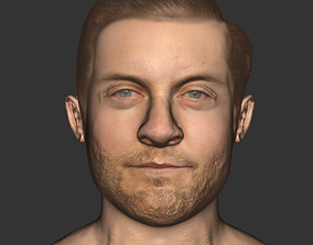 low-poly Tobey Maguire realistic head actor movie 1