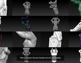 3D model Rome Classic Human Corbel set of 5