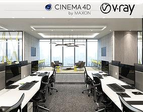 VRay - C4D files - Office Space 3D model floor
