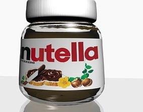 Nutella Chocolate Hazelnut Spread 3D