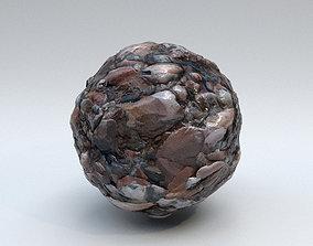 Stones Rocky Wet - PBR Material 3D model