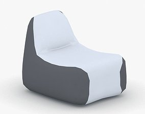 3D model low-poly 1040 - Bean Bag Armchair
