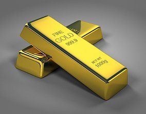 Gold Bar 3D model dollar
