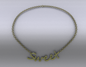 Necklace 3D model realtime bracelet