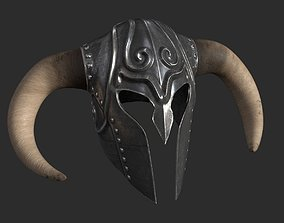 Helmet with horns 3D