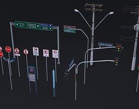 Brazilian Traffic Assets 3D