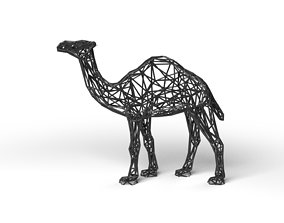 Dromedary Wireframe 3D asset