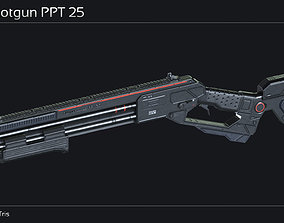 Scifi Shotgun PPT 25 3D model