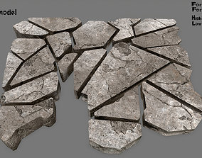 stone set 3D model low-poly