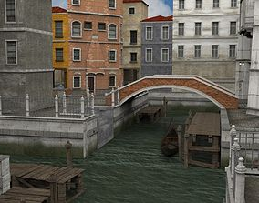 Canal Town for obj and fbx 3D