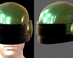 3D asset Helmet plastic mask protection 2