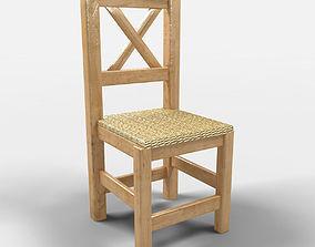 3D Puebla Rustic Chair