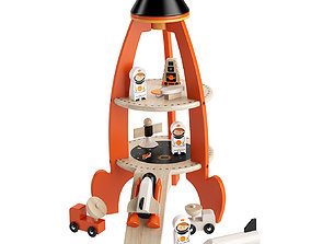 Cosmic Rocket Set Toy by Tender Leaf Toys 3D