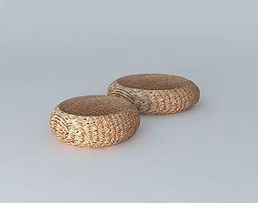 2 Poufs fiber houses the world 3D model