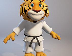 Karate cartoon tiger 3D model