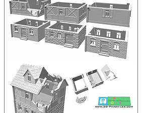 House set for 3D printing -STL File-
